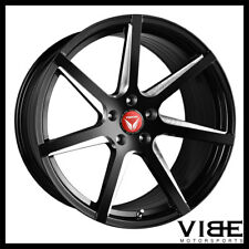 "20"" VERTINI WING 7 BLACK CONCAVE WHEELS RIMS FITS CHEVROLET CAMARO LS LT SS"