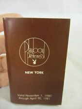 Vintage 1980 The Playboy Club Preferred New York Dining Society Pass Book