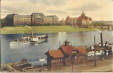 Schiff, Elbe-Dampfer, Dampfschifffahrt, Dampfschifflandeplatz Dresden, alte Ak