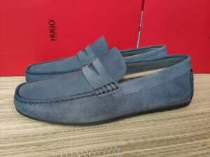 Hugo Boss men's Dandy leather driving shoes/moccasins size UK 5