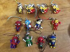 Tokidoki X Marvel Key Chain Lot Of 12 Thor Spider-Man Iron Man X-Men Punisher