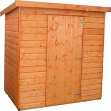 10x4 Wooden Garden Shed Factory Seconds Fully T&G Pent Hut Outdoor Store