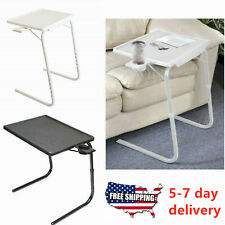Portable Foldable TV Table Adjustable Tray Lazy Laptop Desk W/No Cup Holder