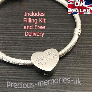 Pet Dog Cat Cremation Ashes Urn European Bead Bracelet Charm Keepsake Jewellery