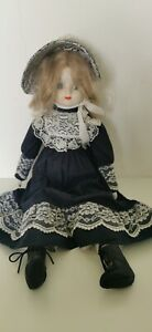 """Vintage Collectors Porcelain Head/Hands/Feet Haunting Doll 18"""""""