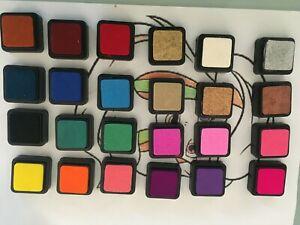 STEMPELKISSEN Set 24 Farben Stempel-Kissen Kinder Stempelfarbe bunt NEU Inkpad