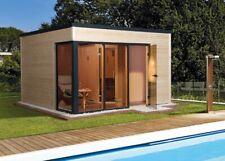 WEKA Design-Saunahaus Cubilis Fichte 380 x 300 cm Gartensauna Massivholzsauna