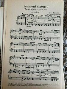 Noten Salonorchester Annientamento / Mistero - 2 Tango tipico argentino 1946
