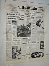 FAC-SIMILE A LA UNE JOURNAL HUMANITÉ 05/01 1968 OFFENSIVE DU TÊT GUERRE VIETNAM