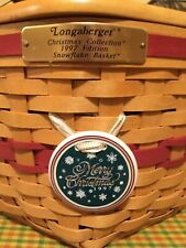 1997 Longaberger Christmas Collection Snowflake Basket w wood Lid