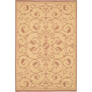 Couristan Recife Veranda Natural & Terra & Cotta Indoor/Outdoor Rug