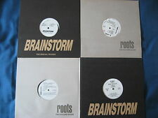 """15x12"""" LOT Brainstorm Roots Trans Former Techno & Clubsound Italy records 