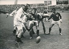 RUGBY 1952 - Match France - Angleterre Joueurs sur le Terrain Colombes  - PR 681