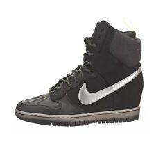 Nike Black Wedge Trainer Boots Dunk Sky Hi Sneaker Boot Women Shoes Black Size 4