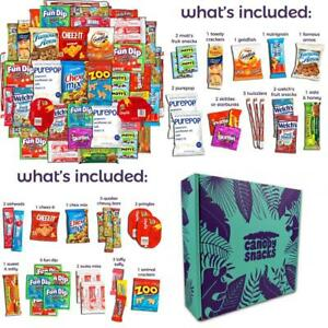 College Care Package (40 Count) Snacks Cookies Bars Chips Candy Ultimate...