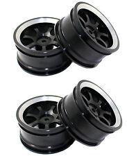 1/10 RC model On-Road car Aluminum wheel rims BLACK 7-spoke Metal Rims HSP 107
