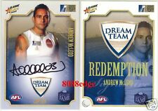 2008 SELECT AFL CLASSIC SIGNATURE REDEMPTION: ANDREW McLEOD #96/100 DREAM TEAM