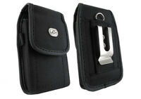 Vertical Rugged Heavy Duty Case Carry Pouch Cover Belt Clip for Cell SmartPhones