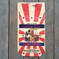 Vintage Original COUNTRY STYLE CORN MEAL Black Americana 1920s Breakfast Bag NOS