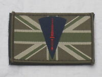 Royal Marines Commando Dagger & Union Jack, 1 31/32x3 5/32in, Hook Back, Patch,