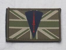 Royal Marines Commando Dagger & Union Jack, 50x80mm,Klett Rückseite,Patch,MTP
