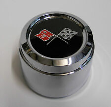1978 CORVETTE PACE CAR WHEEL CHROME CENTER CAP 76-82 CHECKERED CROSS FLAG ONE