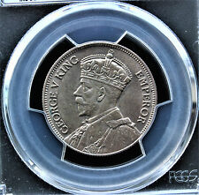 Fiji 1934 One Florin King George V PCGS graded MS 63