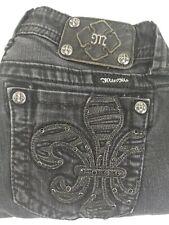 Miss Me Womens Jeans Skinny Stretch Black Denim Size 28