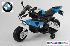 Moto électrique enfant 12V BMW S1000 RR - Licence BMW -Bleu-
