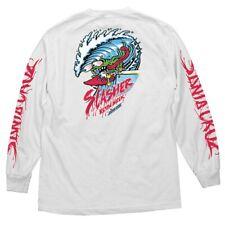 Santa Cruz Keith Meek Wave Slasher Long Sleeve Skateboard Shirt White Xl