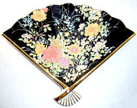 Shibata Hand Painted JAPANESE PORCELAIN FAN-SHAPED PLATE – Signed, Early 1980's