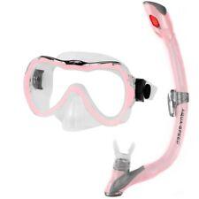 Schnorchelmaske Tauchermaske für Kinder Tauchen Rosa Aqua-Speed