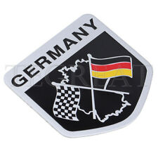German Flag Car Racing Emblem Grille Badge Decal Sticker For Porsche VW BMW Benz