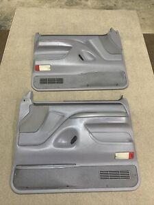 92-96 Ford Bronco F-150 97 F-250 F350 Pair Of Power Door Panels OEM Gray Nice
