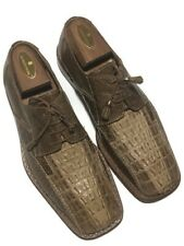 98bbfc8a7 Slick Exotica Men s Hand Made Brown Genuine Horn back Lizard Lace Up s -  Size 8