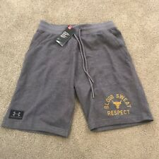 Under Armour Project Rock Respect Shorts Mens Size Medium Knit French Terry