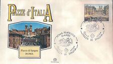 FDC ITALIA PRIMO GIORNO DI EMISSIONE 1989 PIAZZA DI SPAGNA ROMA 7-77