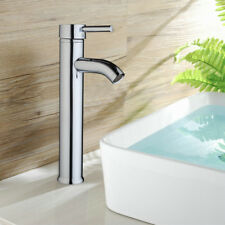Tall Deck Mounted Chrome Finished Bathroom Basin Faucet Vanity Sink Mixer Tap