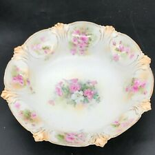 ANTIQUE VICTORIAN UNMARKED EARLY OLD FRUIT BOWL DISH FLOWER FLORAL PATTERN