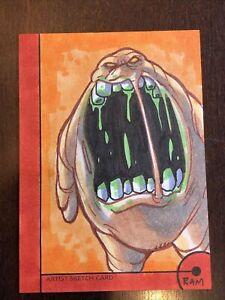 Marvel Sketch card 1/1 RAM artist 2013 Fleer Retro