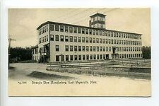 East Weymouth MA Mass Strong's Shoe Manufactory, Mill, early