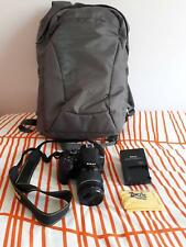Nikon D3400 camera (barely used) with 18-55mm kit lens and Lowepro backpack