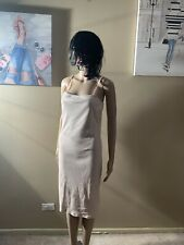 Topshop Size 8 Ivory Fitted Dress Midi Bodycon Length 41""