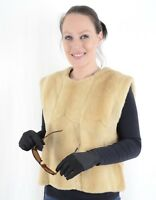 NEW FANCY KOLINSKY WEASEL FUR VEST STROLLER SHEARED- CLASS OF MINK