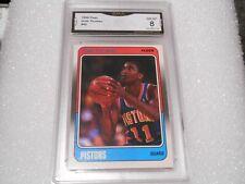 Isiah Thomas GRADED CARD!! 1989 Fleer #45 Pistons HOFer! 8-2!