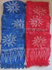 Lot of 6 Batik Sarong Sun Design Wrap Swimsuit Coverup Full Size US Seller