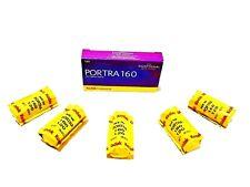 5 x Rolls 120 MED Format KODAK PORTRA 160 COLOR NEG-ULTRA  FRESH-expiry: 02/2021