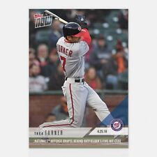 2018 TOPPS NOW #127 NATIONALS OFFENCE ERUPTS OUTFIELDER'S 5 HIT GAME TREA TURNER