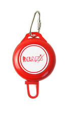 Beans Ski Pass or ID Card Retractable Keyring Lanyard - Red
