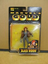 Marvel's Gold Collector's Edition Black Widow - New Rare Toy Biz 1998 Figure